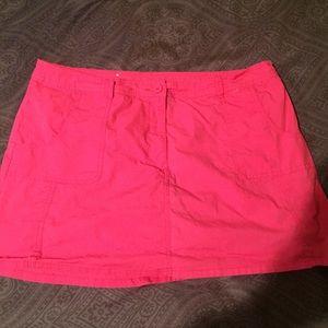 Sz 18 Pink Skort- skirt with shorts underneath